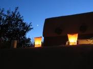 Luminarias a few doors down from us - a Santa Fe tradition