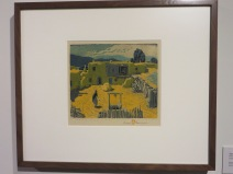 Taos Placita by Gustave Baumann, color woodcut