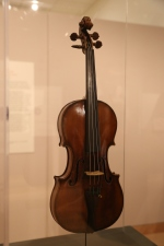 Artot-Alard violin, 1728, the only Stradivari in the exhibit! He was about 84 yrs old when he made this one.
