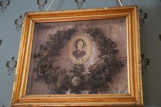 Wreath made with real hair - creepy