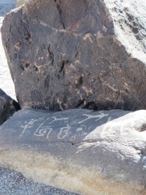 Petroglyphs found on the property - inspried some of Wright's designs