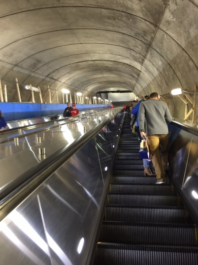 DC has many huge escalators to reach their multi-level Metro stations - HUGE!