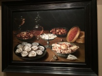Dishes with Oysters, Fruit, and Wine - Beert the Elder