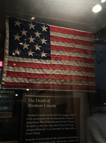 Flag from Lincoln's Funeral Train (Albany to Utica, NY)