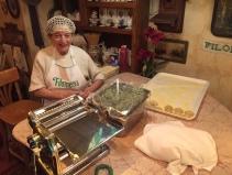 Making the pasta!