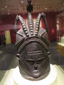 Helmet Mask, Sierra Leone, unique in that they are worn by females in womanhood ceremonies & funerals