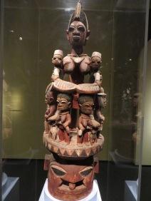 Epa Helmet Mask, Nigeria, worn at dances to honor ancestors, promote fertility and plentiful harvests