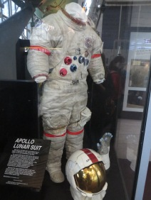 Check out the moon dust! Worn by Astronaut on Apollo 15 in 1971.