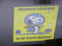 NASA gives Snoopy safety awards