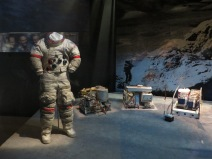 Apollo 17 Space Suit(last manned moon exploration) and Lunar Surface Experiment Package (ALSEP)