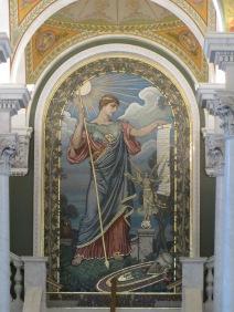 Minerva mosaic by Elihu Vedder