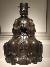 Daoist Deity, Bronze with gold, Ming dynasty, 16th Century