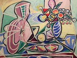 MMandolin and Vase of Flowers, Picasso