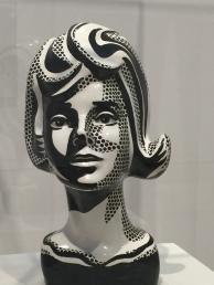 Black and White Head, Lichtenstein